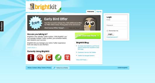 Brightkit.com - vypadá fajně, ale nefunguje