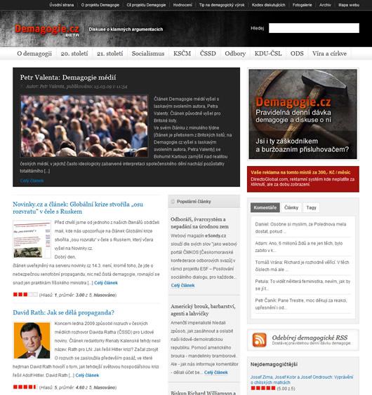 Rozjíždíme nový webový projekt: Demagogie.cz