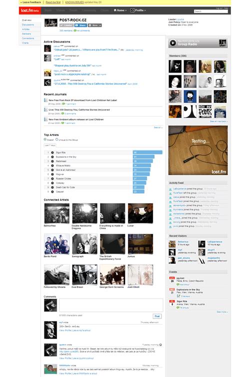 Last.fm: Profil grupy