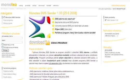 Monotea - webová prezentace