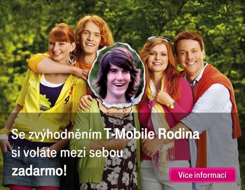 Se zvýhodněním T-Mobile rodina si voláte mezi sebou zadarmo!