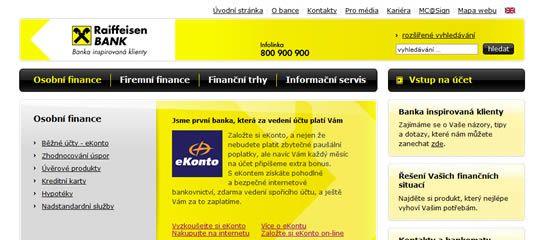 Raiffeisenbank – banka inspirovaná klienty?