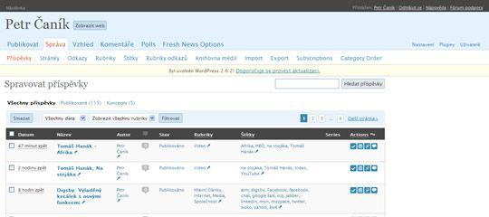 Wordpress – Admin Management Xtended Plugin: Príma vychytávka na správu webu