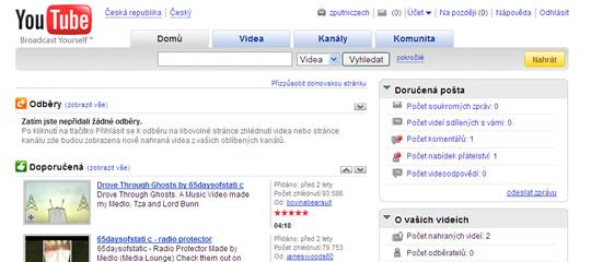 YouTube.cz: Světový videoserver od dneška hezky česky